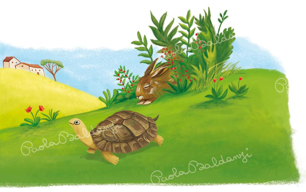 Esopo la lepre e la tartaruga paola baldanzi for Lepre immagini da stampare
